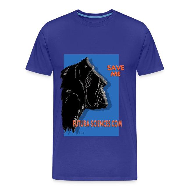 Save Gorille homme bleu royal