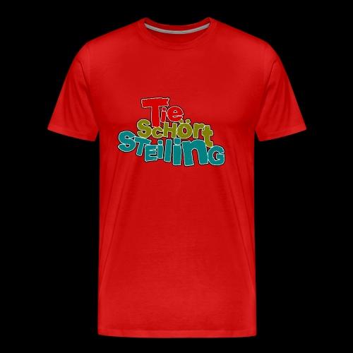 Tie Schört Steiling - Männer Premium T-Shirt