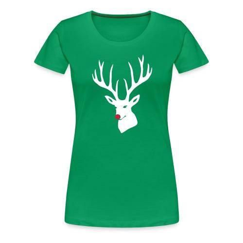 tier shirt weihnachten rudolf rentier hirsch geweih schlitten rote nase rudolph red nose reindeer merry christmas - Frauen Premium T-Shirt