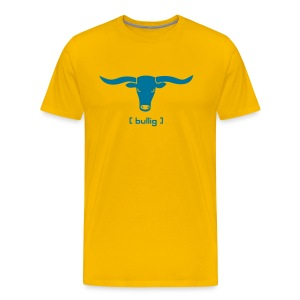 tier shirt bulle bullig polizei ochse horn hörner rodeo evil augen büffel bison cowboy wilder westen - Männer Premium T-Shirt