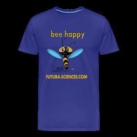 Bee happy homme bleu vert ~ 1850