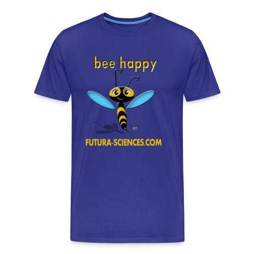 Bee happy homme bleu vert - T-shirt Premium Homme