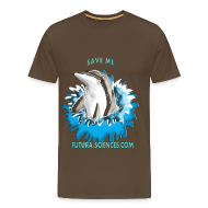 Tee shirts ~ T-shirt Premium Homme ~ Save dauphin homme marron