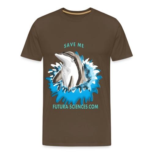 Save dauphin homme marron - T-shirt Premium Homme