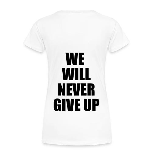 Justin Bieber NEVER SAY NEVER - Premium-T-shirt dam
