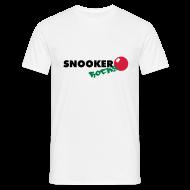 T-Shirts ~ Männer T-Shirt ~ snooker rocks shirt