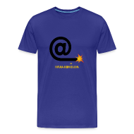 Tee shirts ~ Tee shirt Premium Homme ~ Arobase homme bleu royal
