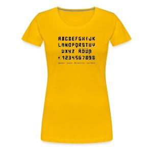 Braille-on-Black-Alphabet - Shirt - Frauen Premium T-Shirt