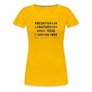 Braille-on-Black-Alphabet - Shirt - Frauen Premium T-Shirt