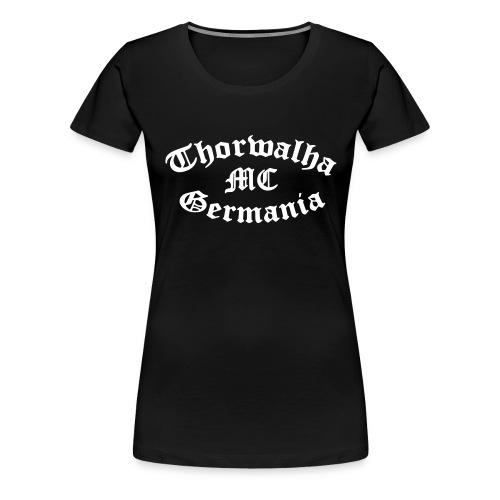 TW - Girlieshirt - Schriftfarbe Weiß - Frauen Premium T-Shirt