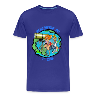 Tee shirts ~ Tee shirt Premium Homme ~ 7ème ciel homme bleu royal