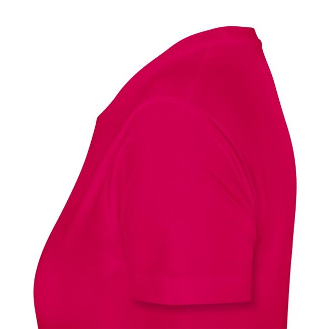 """Girlie-Shirt """"Schleife"""" Pink-Weiß Glitzer"""