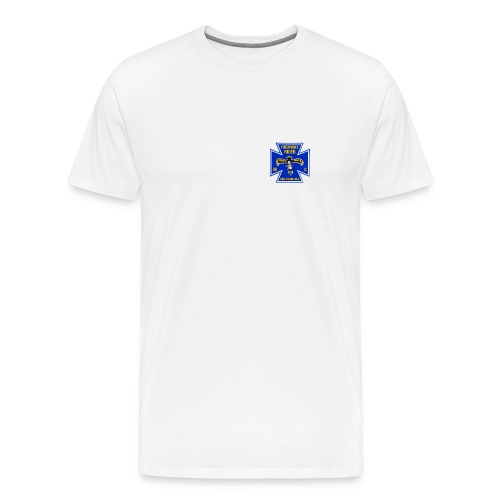 Shirt weiß, Brustlogo farbig, Übergröße - Männer Premium T-Shirt