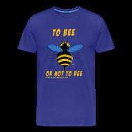 Tee shirts ~ T-shirt Premium Homme ~ To bee homme bleu marine