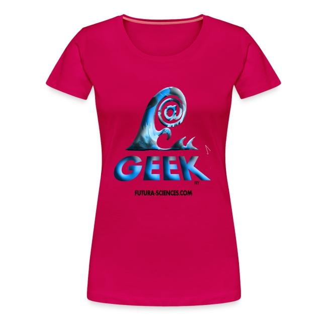 Geekwave femme rougerubis-bleu