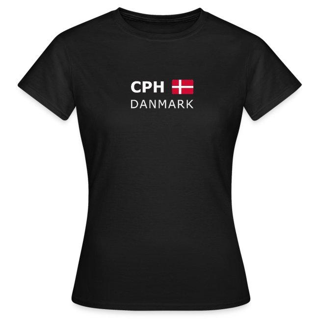Women's T-Shirt CPH DANMARK white-lettered