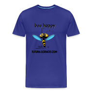 Tee shirts ~ Tee shirt Premium Homme ~ Bee happy homme bleu ciel