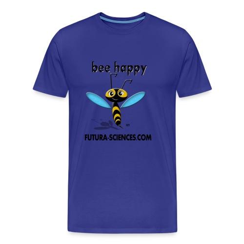 Bee happy homme bleu ciel - T-shirt Premium Homme