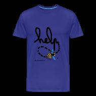 Tee shirts ~ Tee shirt Premium Homme ~ Help homme bleu ciel