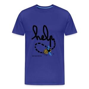 Help homme bleu ciel - T-shirt Premium Homme