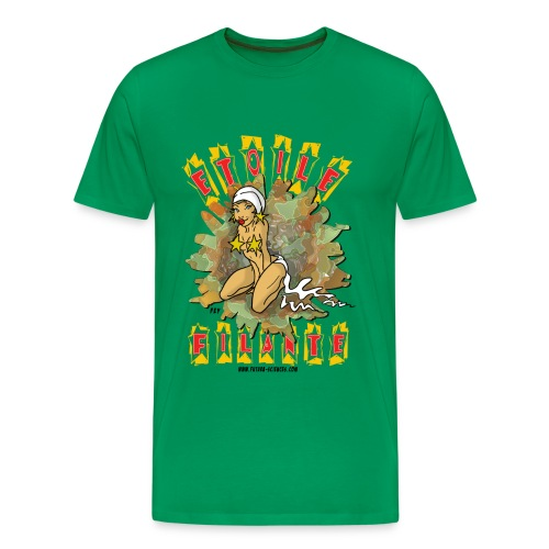 Etoile filante homme vert bouteille - T-shirt Premium Homme