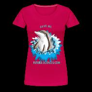 Tee shirts ~ Tee shirt Premium Femme ~ Save dauphin femme rubis