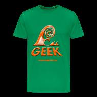 Tee shirts ~ T-shirt Premium Homme ~ Geekwave homme vert bouteille-orange