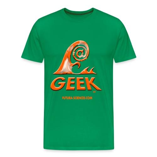 Geekwave homme vert bouteille-orange - T-shirt Premium Homme