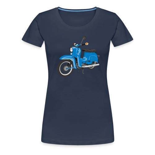 Himmelblaue Schwalbe - Frauen Premium T-Shirt