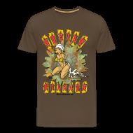 Tee shirts ~ Tee shirt Premium Homme ~ Etoile filante homme marron