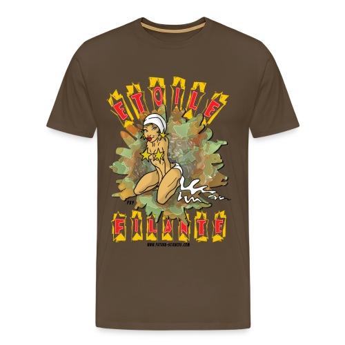 Etoile filante homme marron - T-shirt Premium Homme