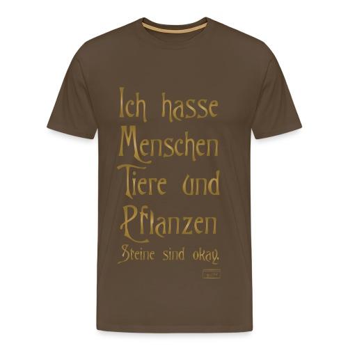 Männer Premium T-Shirt - Menschen,Pflanzen,Tiere