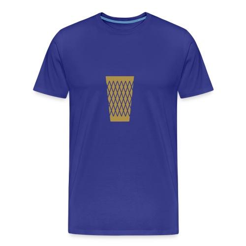 Goldenes Geripptes - Männer Premium T-Shirt