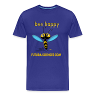 Tee shirts ~ Tee shirt Premium Homme ~ Bee happy homme bleu royal