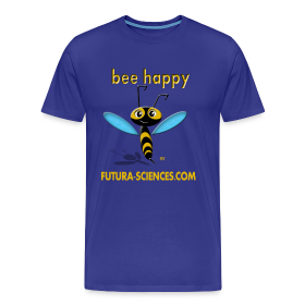 Bee happy homme bleu royal ~ 1850
