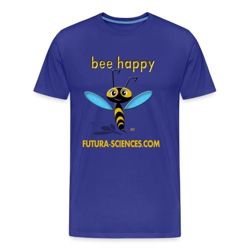 Bee happy homme bleu royal - T-shirt Premium Homme