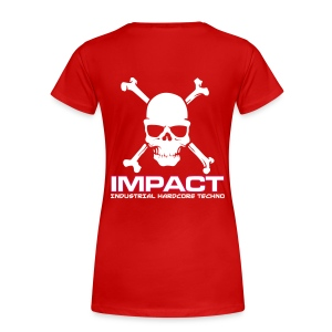 Impact Women's Girlie Tshirt (Text Front) RED - Women's Premium T-Shirt