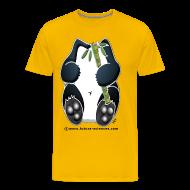 Tee shirts ~ T-shirt Premium Homme ~ Panda homme jaune
