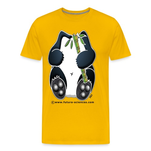 Panda homme jaune  - T-shirt Premium Homme