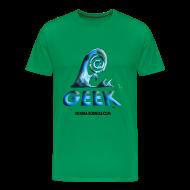 Tee shirts ~ T-shirt Premium Homme ~ Geekwave homme vert mousse-bleu