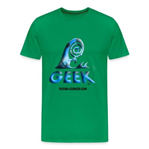 Geekwave homme vert mousse-bleu - T-shirt Premium Homme