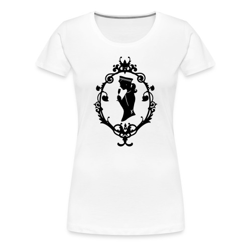 Girlie-Shirt Band Weiß-Schwarz - Frauen Premium T-Shirt