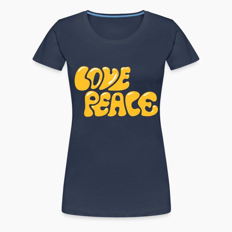 love peace 60er 70er jahre look goa hippie zeichen t shirt spreadshirt. Black Bedroom Furniture Sets. Home Design Ideas