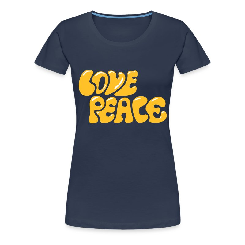 love peace 60er 70er jahre look goa hippie zeichen t shirt spreadshirt. Black Bedroom Furniture Sets. Home Design Ideas