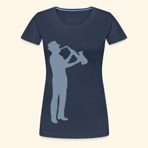 Jazz Girlie Shirt Silver - Women's Premium T-Shirt
