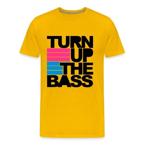 MusicaDj Turn Up The Bass (M) - Camiseta premium hombre