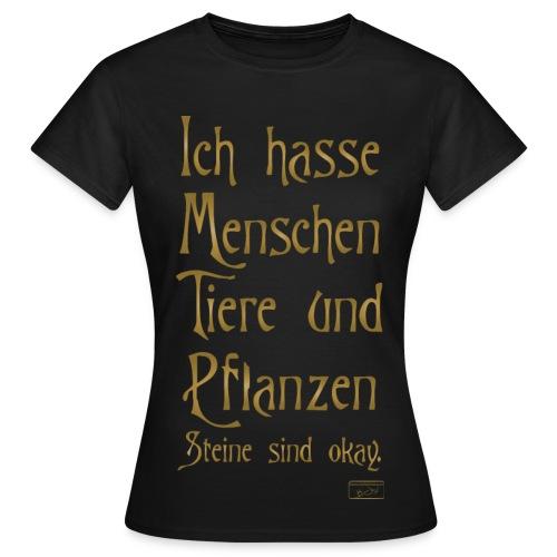Frauen T-Shirt - menschen,Tiere,Steine