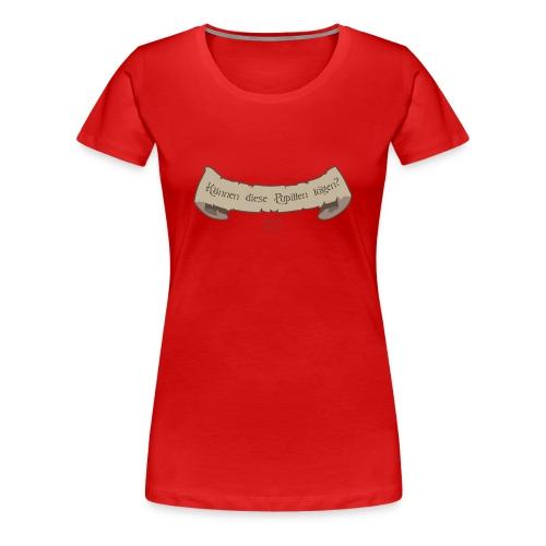 Frauen Premium T-Shirt - Druck in braun, vorn