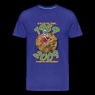 Tee shirts ~ T-shirt Premium Homme ~ Conquete espace homme bleu royal