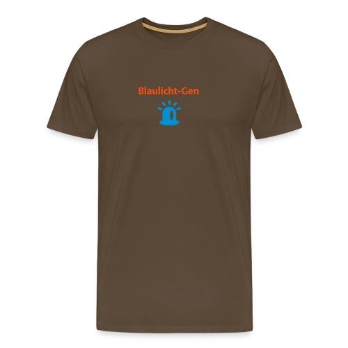 Blaulicht-Gen (Rücken: Link) - Männer Premium T-Shirt